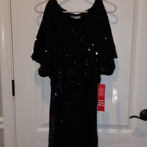 NWT Black sequin party dress Sz. 6